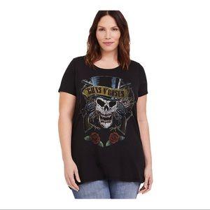 Torrid Guns N' Roses Crew Neck Graphic Tee Shirt